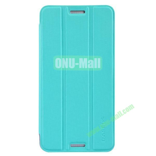 3 Folio Style Baseus Leather Case for HTC One Max Stand Protective Case (Blue)