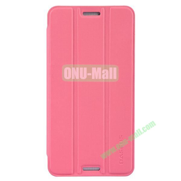3 Folio Style Baseus Leather Case for HTC One Max Stand Protective Case (Pink)