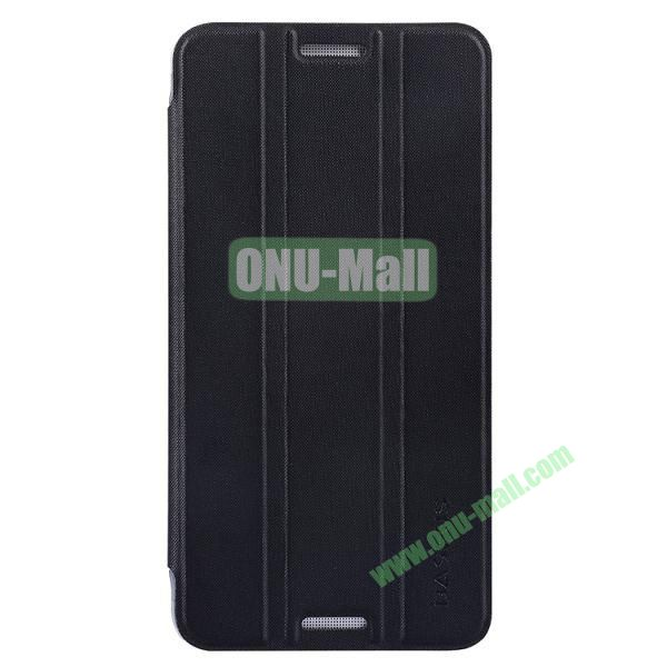 3 Folio Style Baseus Leather Case for HTC One Max Stand Protective Case (Black)