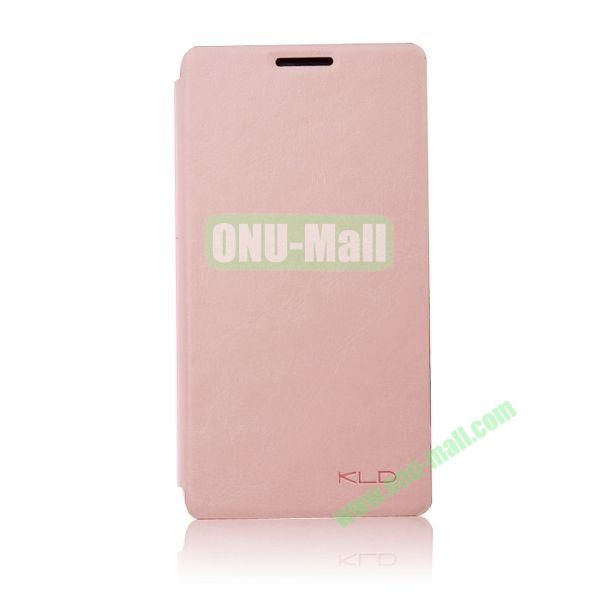 KLD England Series Flip Leather Case for Huawei G510  U8951(Pink)