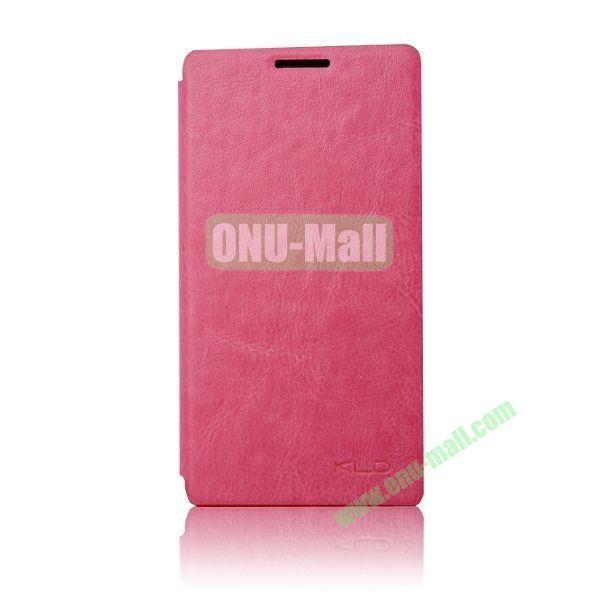 KLD England Series Flip Leather Case for Huawei G510  U8951(Rose)