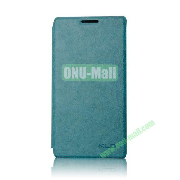 KLD England Series Flip Leather Case for Huawei G510  U8951(Cyan)
