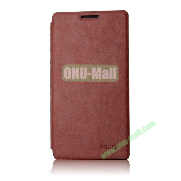 KLD England Series Flip Leather Case for Huawei G510  U8951(Brown)