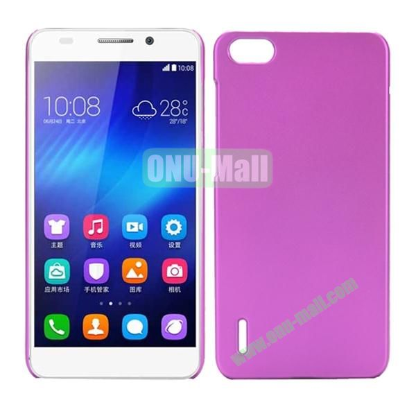 Pure Color PC Hard Back Plastic Case for Huawei Honor 6 (Rose)