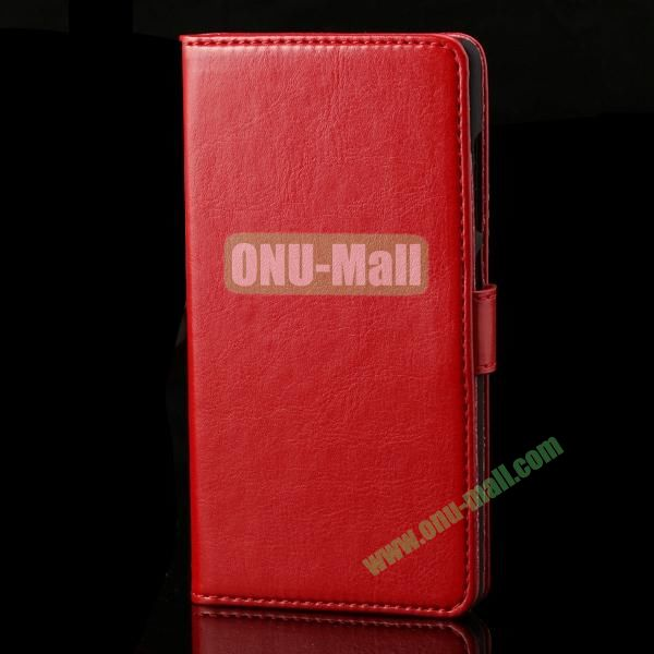 PC and Leather Case for Huawei Honor 3C with Crazy Horse Pattern (Red)