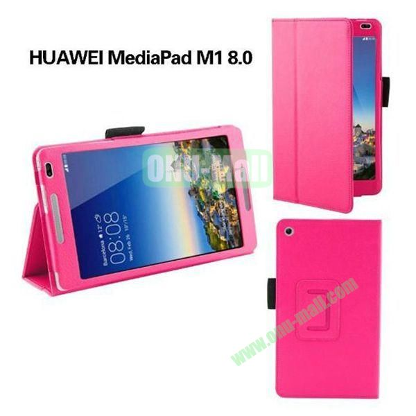 High Quality Flip Stand PU Leather Case for Huawei MediaPad M1 8.0 (Rose)