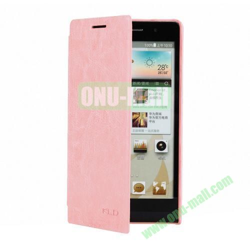 KLD Ultrathin Crazy Horse Pattern Style Leather Case For Huawei Ascend P6 (Pink)