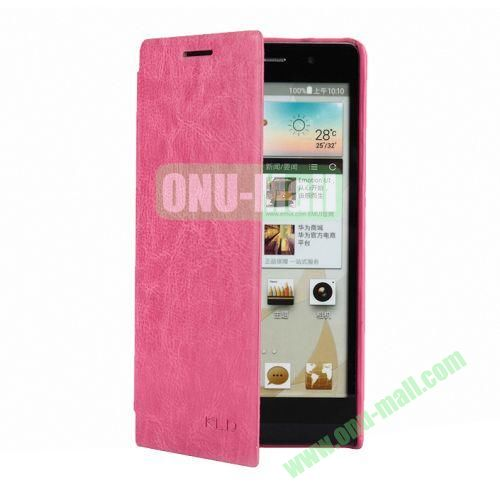 KLD Ultrathin Crazy Horse Pattern Style Leather Case For Huawei Ascend P6 (Rose)