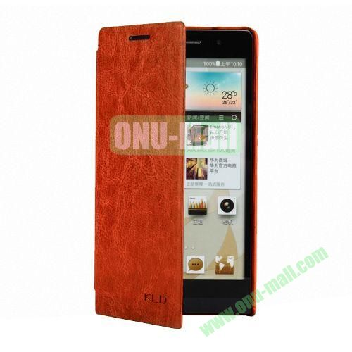 KLD Ultrathin Crazy Horse Pattern Style Leather Case For Huawei Ascend P6 (Brown)