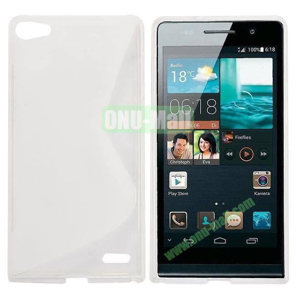 S Shape Design TPU Case for Huawei Ascend P7 (Transparent)