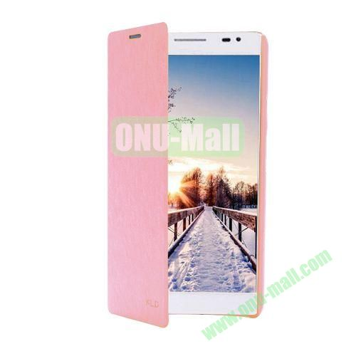 KLD Ultrathin Crazy Horse Pattern Wallet Style Leather Case For Huawei Ascend X1 (Pink)