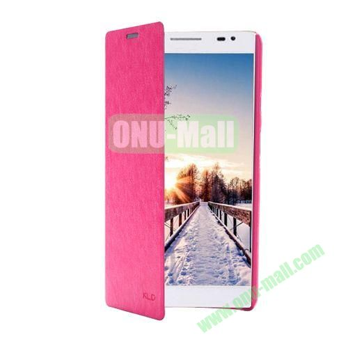 KLD Ultrathin Crazy Horse Pattern Wallet Style Leather Case For Huawei Ascend X1 (Rose)