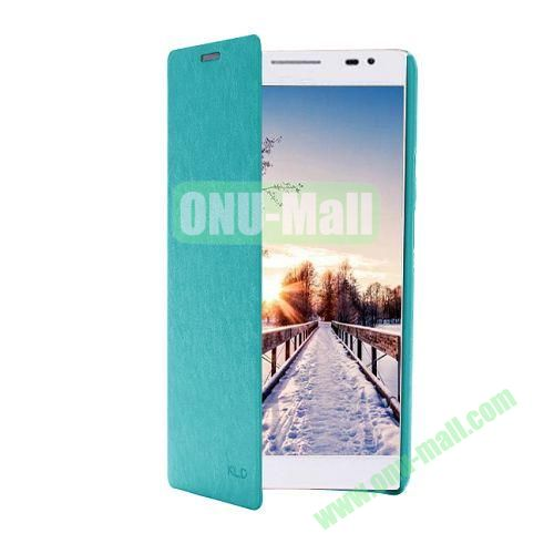 KLD Ultrathin Crazy Horse Pattern Wallet Style Leather Case For Huawei Ascend X1 (Cyan)