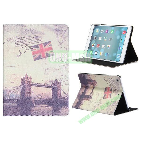 Places Of Interest Pattern Flip Leather and PC Case For iPad Air with Stand (London Bridge)