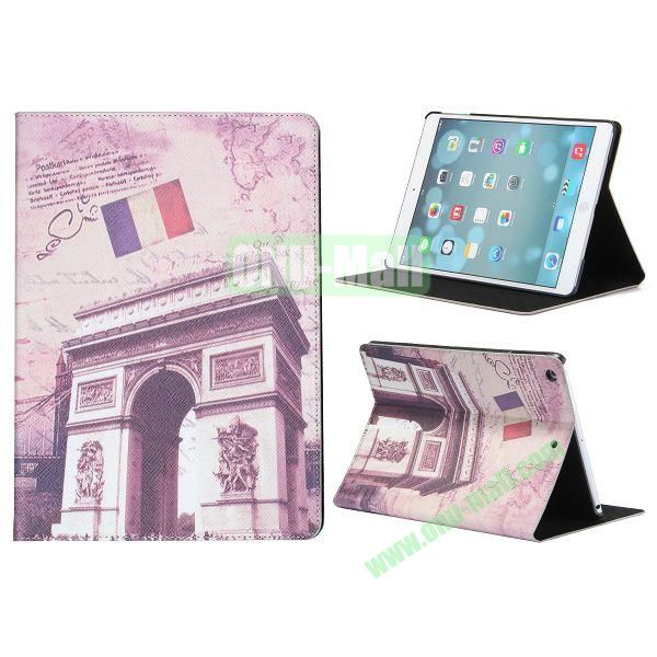 Places Of Interest Pattern Flip Leather and PC Case For iPad Air with Stand (Triumphal arch)