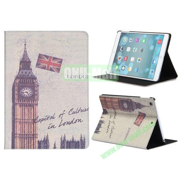 Places Of Interest Pattern Flip Leather and PC Case For iPad Air with Stand (Big Ben)