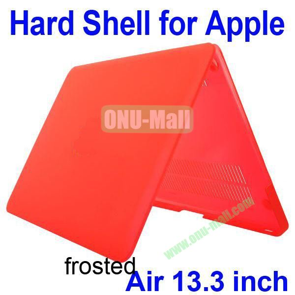 Wholesale Frosted Hard Shell Rubberized Case for Apple Macbook Air 13.3 inch (Red)