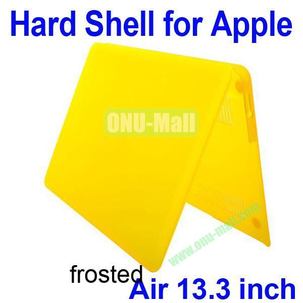 Wholesale Frosted Hard Shell Rubberized Case for Apple Macbook Air 13.3 inch (Yellow)
