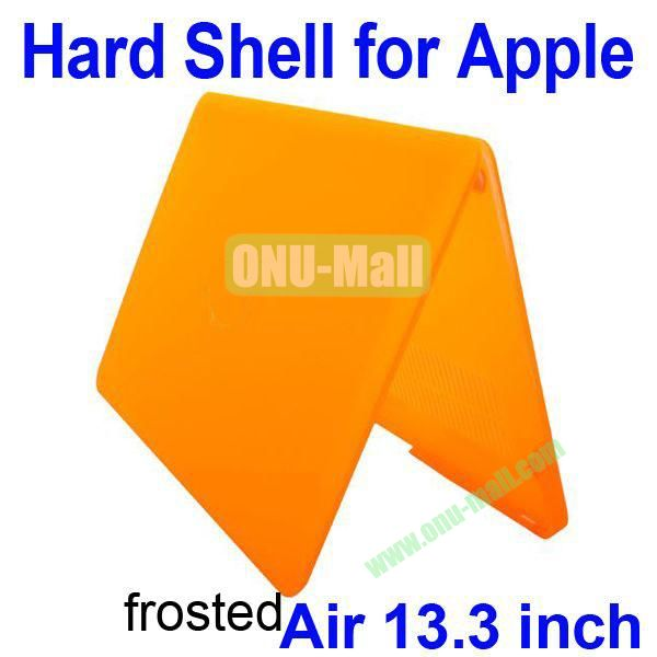 Wholesale Frosted Hard Shell Rubberized Case for Apple Macbook Air 13.3 inch (Orange)