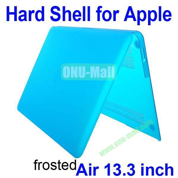 Wholesale Frosted Hard Shell Rubberized Case for Apple Macbook Air 13.3 inch (Blue)