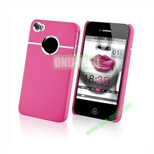 Fashionable and High Quality Hard Case with Chrome Inset for iPhone4iPhone 4S (Pink)