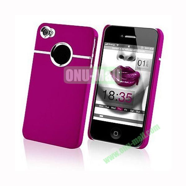 Fashionable and High Quality Hard Case with Chrome Inset for iPhone4iPhone 4S (Rose)