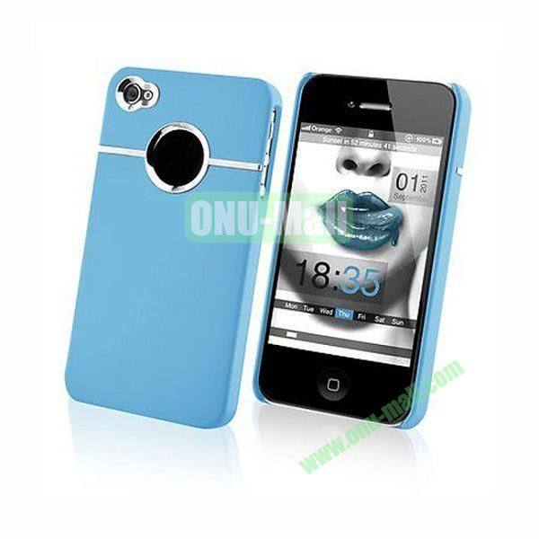 Fashionable and High Quality Hard Case with Chrome Inset for iPhone4iPhone 4S (Blue)