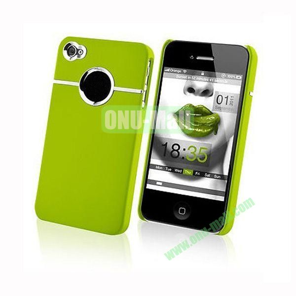 Fashionable and High Quality Hard Case with Chrome Inset for iPhone4iPhone 4S (Green)