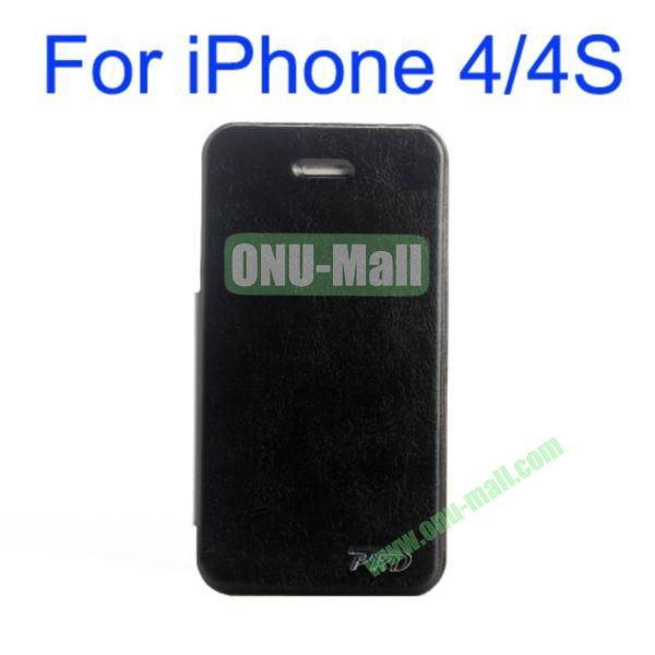 Special Design Ultrathin Leather Case Cover with Stand for iPhone 44S(Black)