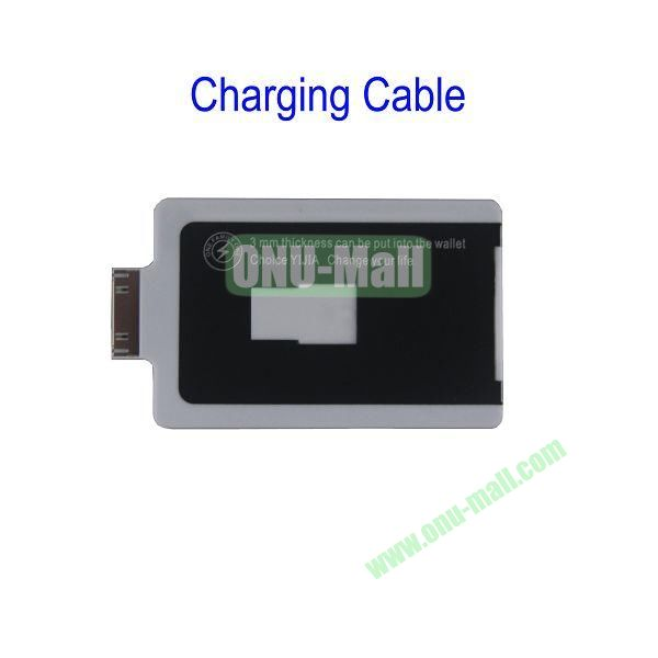Charge Card Credit Card Sized USB Charging and Sync Cable for iPhone 4S4,iPad 2,the New iPad(White)