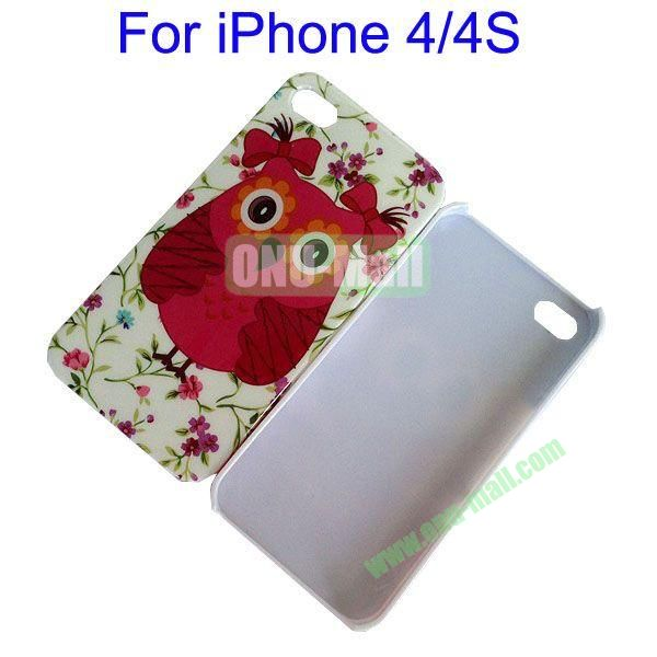 Red Owl Pattern Hard Case for iPhone 44S