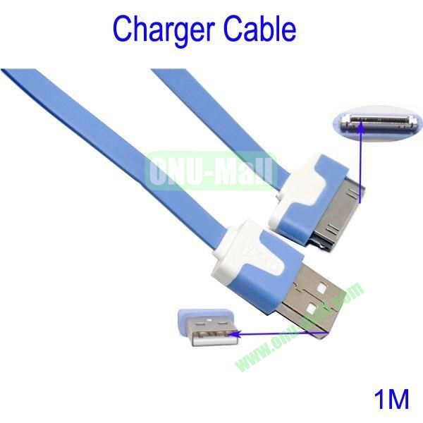 1m Charger Cable for iPhone 44S iPad 2  New iPad(Blue)