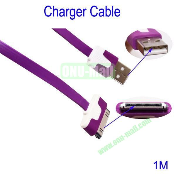 1m Charger Cable for iPhone 44S iPad 2  New iPad(Purple)