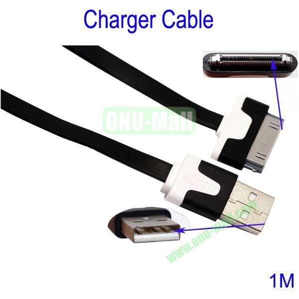 1m Charger Cable for iPhone 44S iPad 2  New iPad(Black)