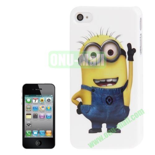 2014 Newest TPU Case For iPhone 4S Minions Pattern TPU Case