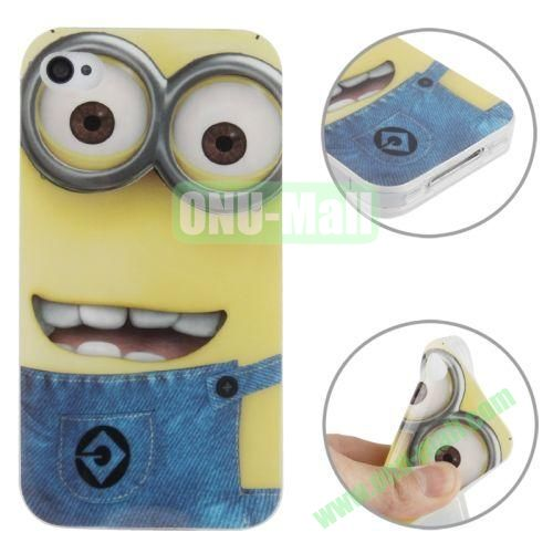 for iPhone 44S Minions Pattern TPU Case
