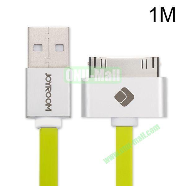 Joyroom 1M 30 Pin USB Sync Data Charging Cable for iPhone 4 4S iPad iPad 2 The new iPad (Green)