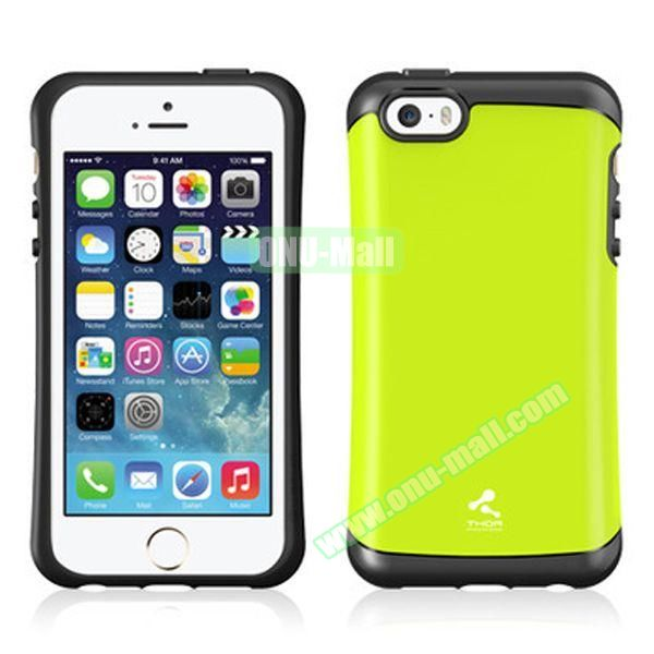 Korea Style VERUS Thor Series TPU and PC Hybrid Case for iPhone 4S (Green)