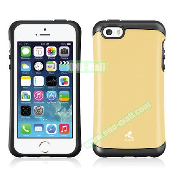 Korea Style VERUS Thor Series TPU and PC Hybrid Case for iPhone 4S (Gold)