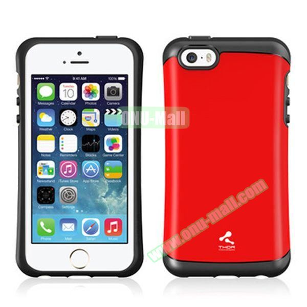 Korea Style VERUS Thor Series TPU and PC Hybrid Case for iPhone 4S (Red)