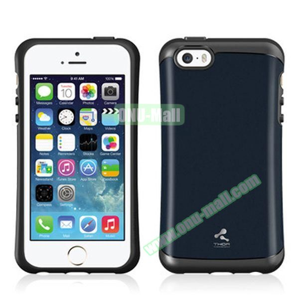 Korea Style VERUS Thor Series TPU and PC Hybrid Case for iPhone 4S (Blue)