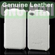 K-cool Litchi Texture Vertical Flip Genuine Leather Case for iPhone 4S  4 (White)