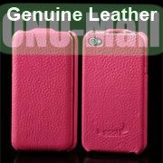 K-cool Litchi Texture Vertical Flip Genuine Leather Case for iPhone 4S  4 (Rose)