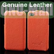 K-cool Litchi Texture Vertical Flip Genuine Leather Case for iPhone 4S  4 (Orange)
