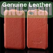 K-cool Litchi Texture Vertical Flip Genuine Leather Case for iPhone 4S  4 (Brown)