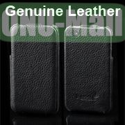 K-cool Litchi Texture Vertical Flip Genuine Leather Case for iPhone 4S  4 (Black)