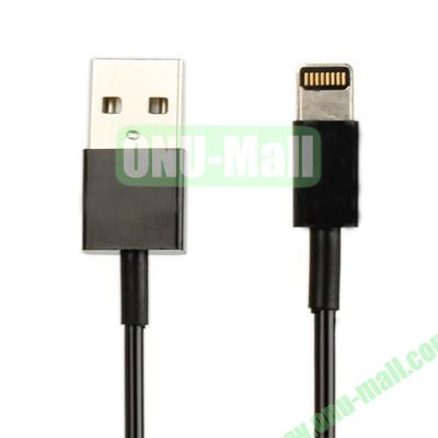 Lightning 8 pin USB Sync Charging Data  Coiled Cable for iPhone 5  iPod Touch  iPad mini (Black)