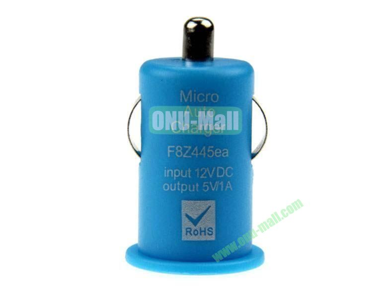 Micro Auto Car Charger for iPhone 5, iPhone 44S, Touch 5,Samsung S4,S3,S2,N7100,HTC,Blackberry,Nokia, Mobile Phones(Blue)
