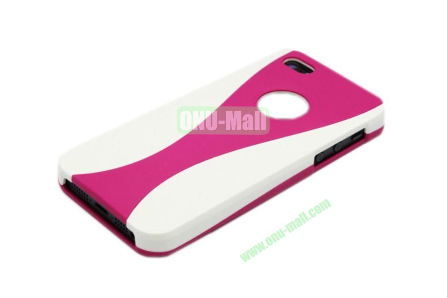 Wholesale Three in one Hybrid Dual Color Wineglass Style Design Wine Cup Shape Case for iPhone5(White+Rose)