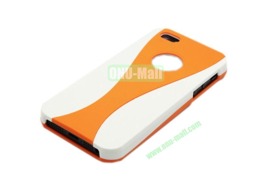 Wholesale Three in one Hybrid Dual Color Wineglass Style Design Wine Cup Shape Case for iPhone5(White+Orange)